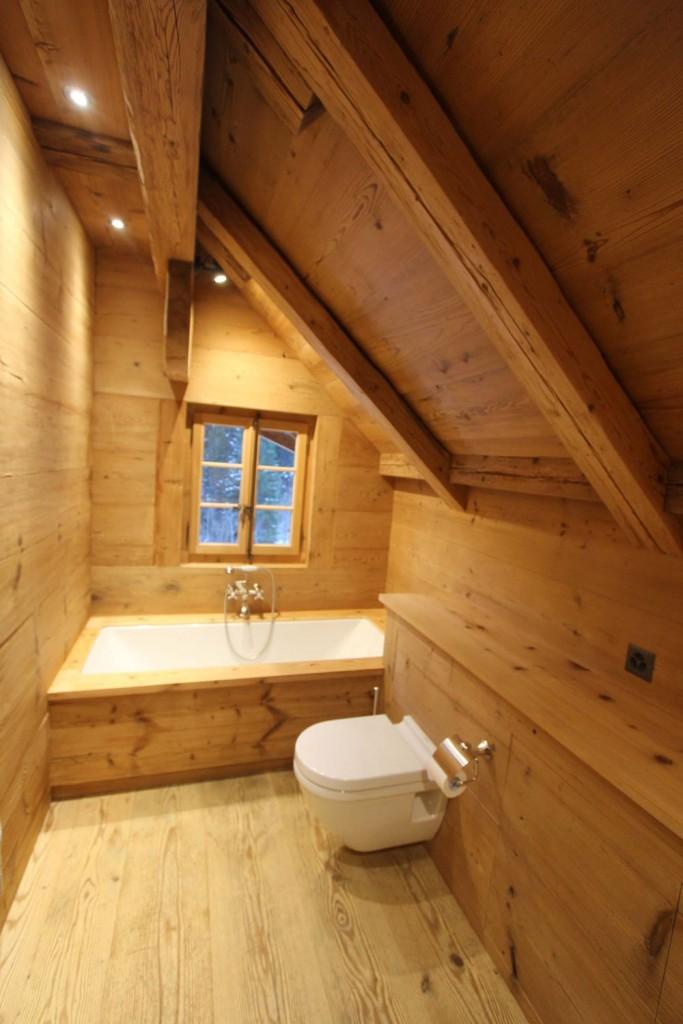 esprit bois salle de bain en vieux bois