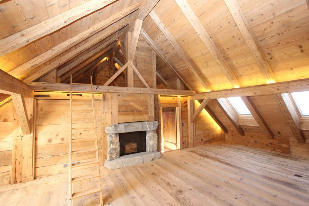 Esprit bois de la surface et du bois - Interieur de chalet ...