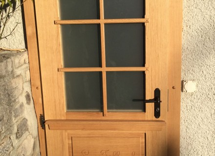 Porte vitrée en chêne
