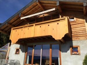 Rénovation complète d'un balcon à Leysin